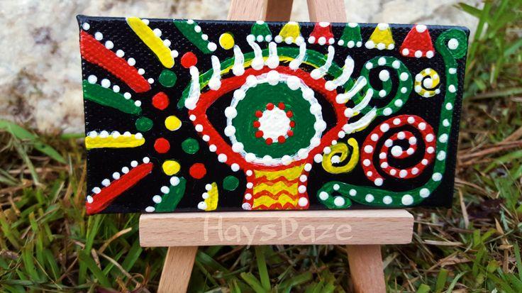Rasta Art Painting by HaysDaze on Etsy