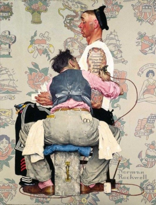 norman rockwell photographie 03 532x700 Les photographies qui ont inspiré Norman Rockwell  photographie peinture 2 featured design bonus