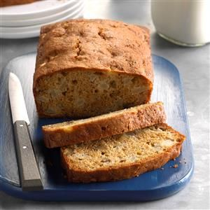 Fresh Pear Bread Recipe -When our tree branches are loaded with ripe juicy pears, I treat my family and friends to loaves of this cinnamony bread that's richly studded with walnuts and pears. I always receive raves and requests for the recipe.—Linda Patrick, Houston, Texas
