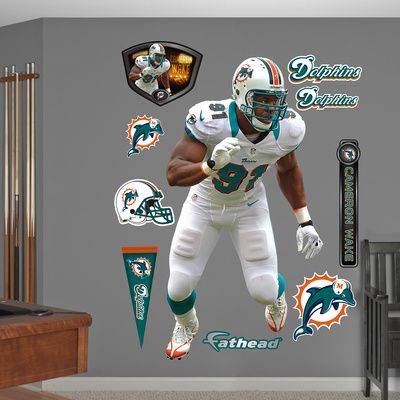NFL Miami Dolphins Cameron Wake - Away Wall Decal Sticker