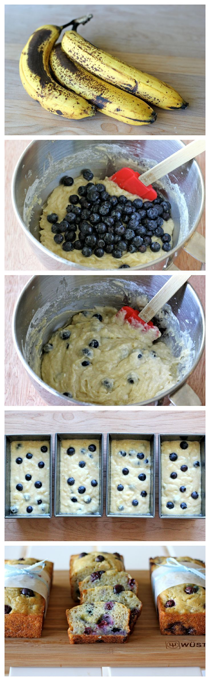 Banana blueberry mini loaves in the airfryer