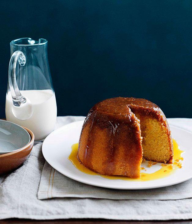 Australian Gourmet Traveller recipe for golden syrup pudding.