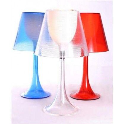 Lampka stołowa Lunatic czerwona