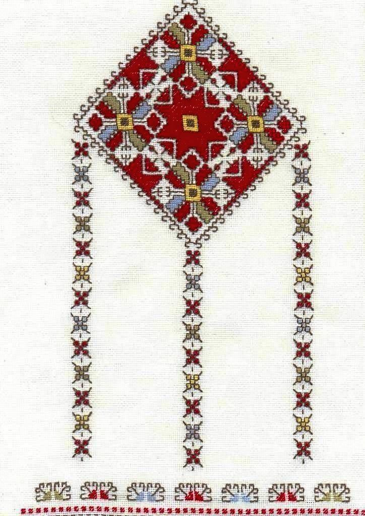 Bulgarian folk embroidery pattern ✳2