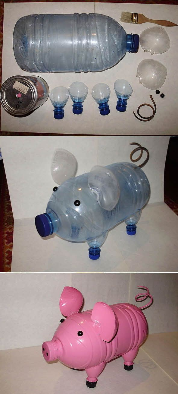 поделки пластиковых бутылок для сада