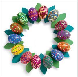 Manualidades para hacer con Niños: Corona o Centro de Mesa de Pascua y Primavera - Manualidades para decorar - Manualidades para niños - Charhadas.com