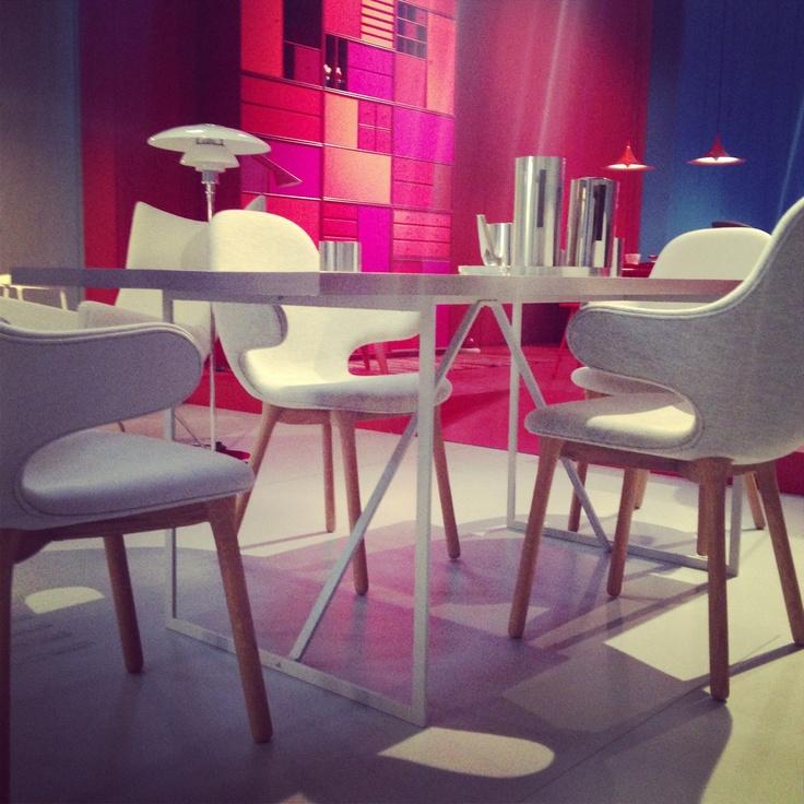 "R.I.G Table in Grey Linoleum Performed at  Triennale di Milano 2013 ""Danish Chromatism"""