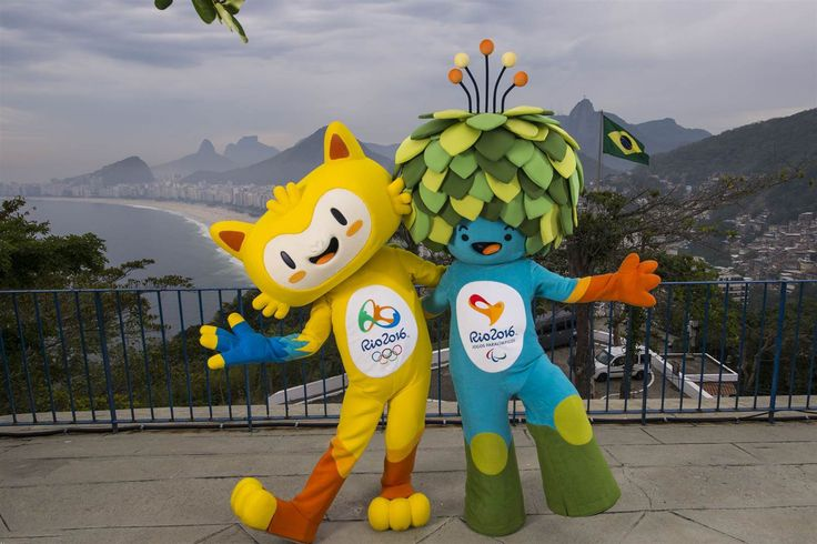 olympics rio airport 2016 | Rio 2016 Olympic mascot Vinicius, left, and Rio 2016…