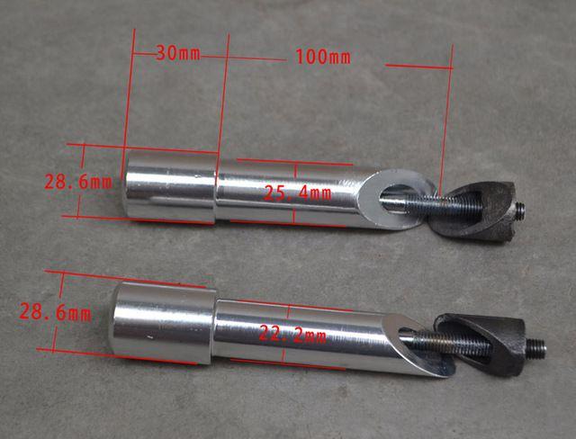 Aleación de aluminio Vástago de La Bicicleta Quill Stem Ahead de Adaptador de 22.2mm * 28.6mm * 130mm Rosca de Plata Piezas de Bicicleta BSB039