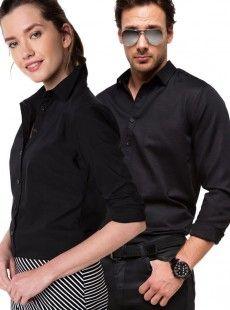 Siyah Sevgili Gömlek Kombini