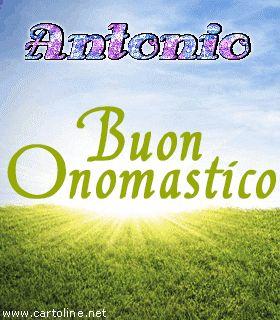 Auguri+di+Onomastico+glitter++per+Antonio