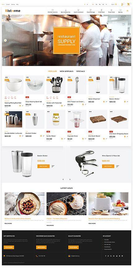 Restaurant Equipment & Supplies Online Store #Prestashop #template. #themes #business #responsive #webshop #Prestashopthemes