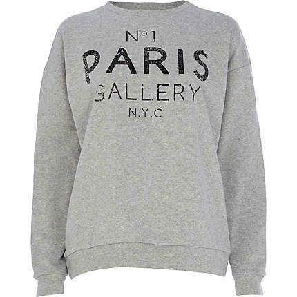 Grey No.1 Paris gallery NYC print sweatshirt £25.00