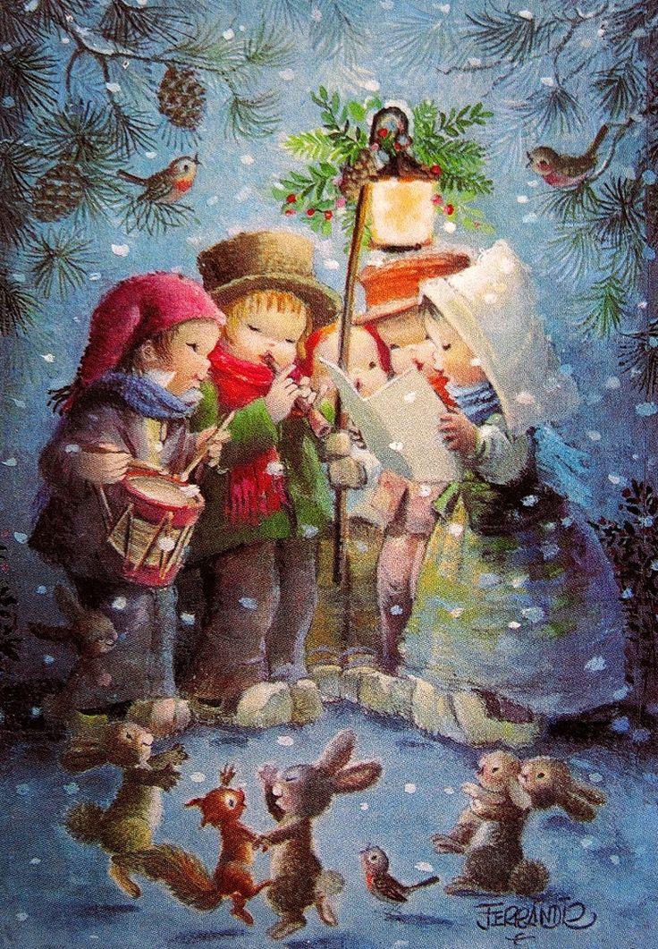 Именем, рождественская открытка картинка для детей