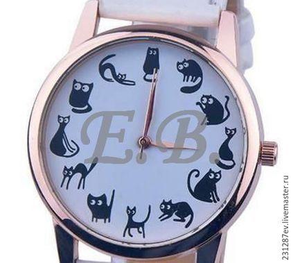 Купить или заказать Женские наручные часы 'Коты' белые в интернет-магазине на Ярмарке Мастеров. Женские наручные часы 'Коты'. На белом ремне. Интересный дизайн, мягкий ремень, отличный подарок для девушек и женщин любого возраста. Работают от батарейки.