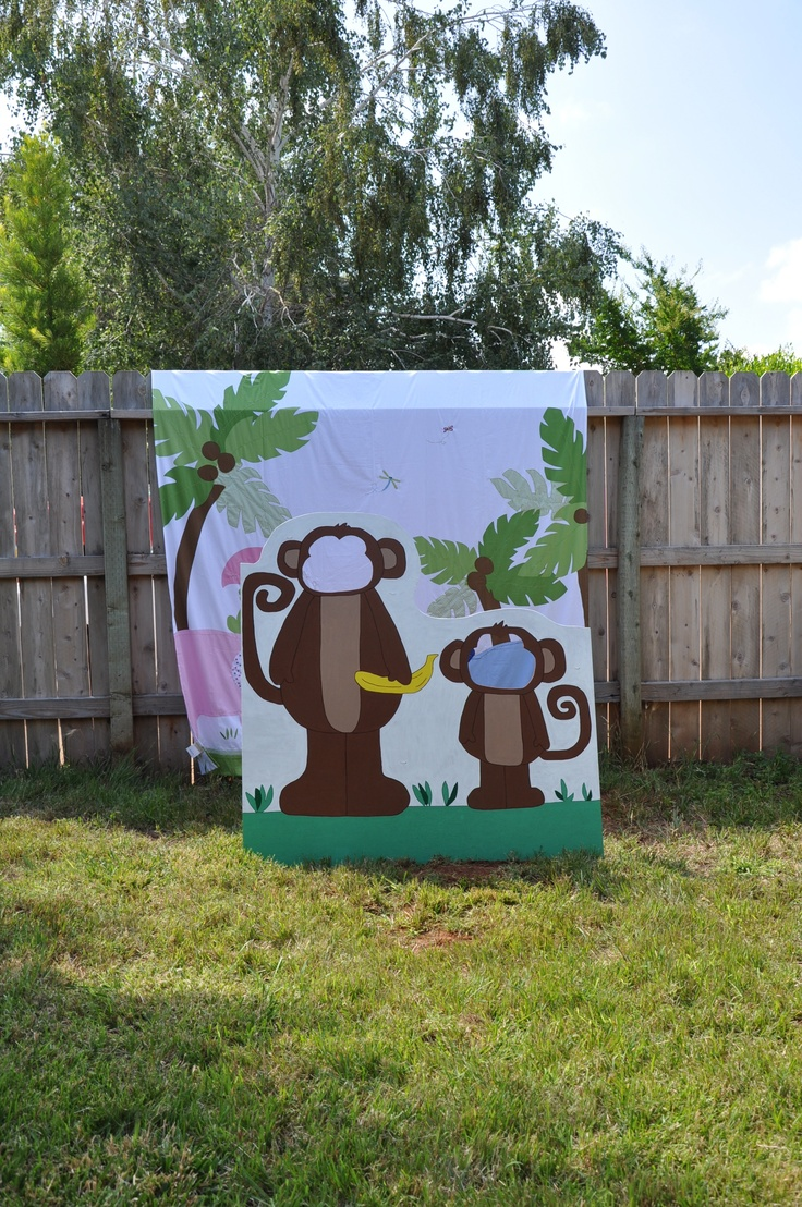 Pottery barn dr seuss shower curtain - My Daughter Handmade This Cute Big Little Monkey Photo Back Drop We Used A Jungle Shower Curtain I Purchased On Clearance At Pottery Barn Kids