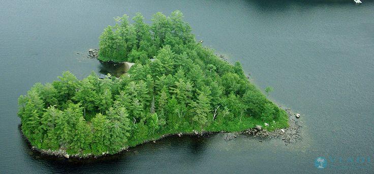 Ilha em formato de coração é colocada à venda por R$ 2,6 milhões (Foto: Divulgação/Vladi Private Islands) http://glo.bo/1sxiNi5