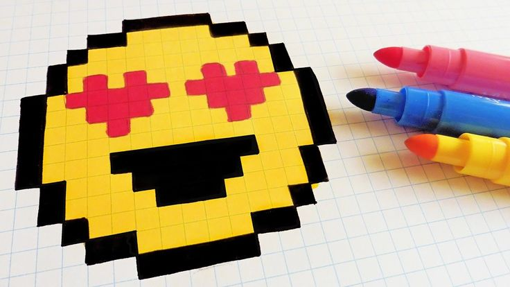 Handmade Pixel Art - How To Draw a Emoji #pixelart
