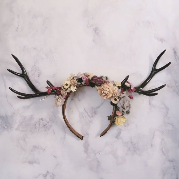 Floral Antler Headband Halloween Cosplay Deer
