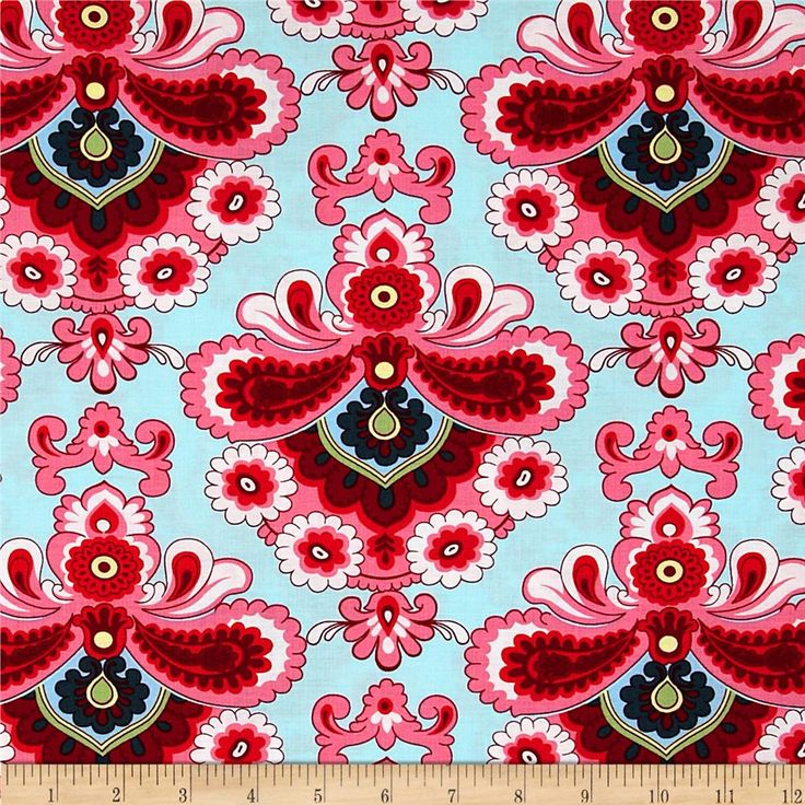 Amy Butler Belle French Wallpaper Duck Egg OMG is it back in print?  My favorite fabric EVER!