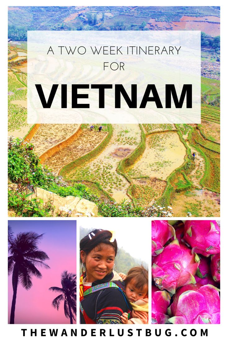 A Two Week Itinerary For Vietnam. Getting You To Ho Chi Minh, Hoi An, Phong Nha, Hanoi, Ha Long Bay, Sapa. Including Mekong Delta, Floating Markets, Night Bus, Trekking, Hiking, Beach, Mopeds, Hai Van Pass, Shopping, Markets, Caves, National Park, Home Stay, Water Puppet Show.