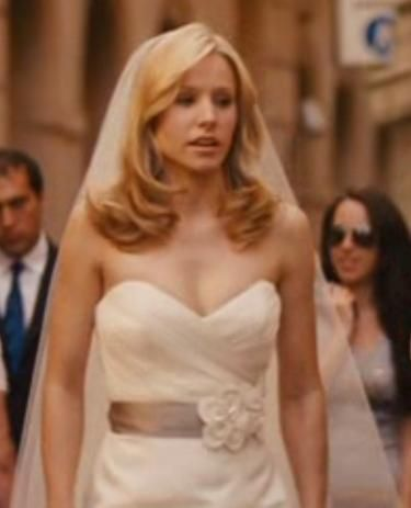 Wedding Hair inspired by Kristen Bell's When in Rome