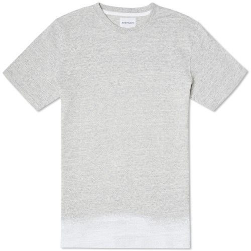 Norse Projects Niels Edge Stripe Moulinex Tee (Light Grey Melange)