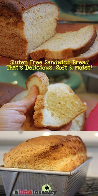 Soft Gluten Free Sandwich Bread Recipe - milk or water, honey, active dry yeast, all purpose gluten free flour mix, xanthan gum, b. pwder, salt, apple cider vinegar or lemon juice, olive oil, eggs