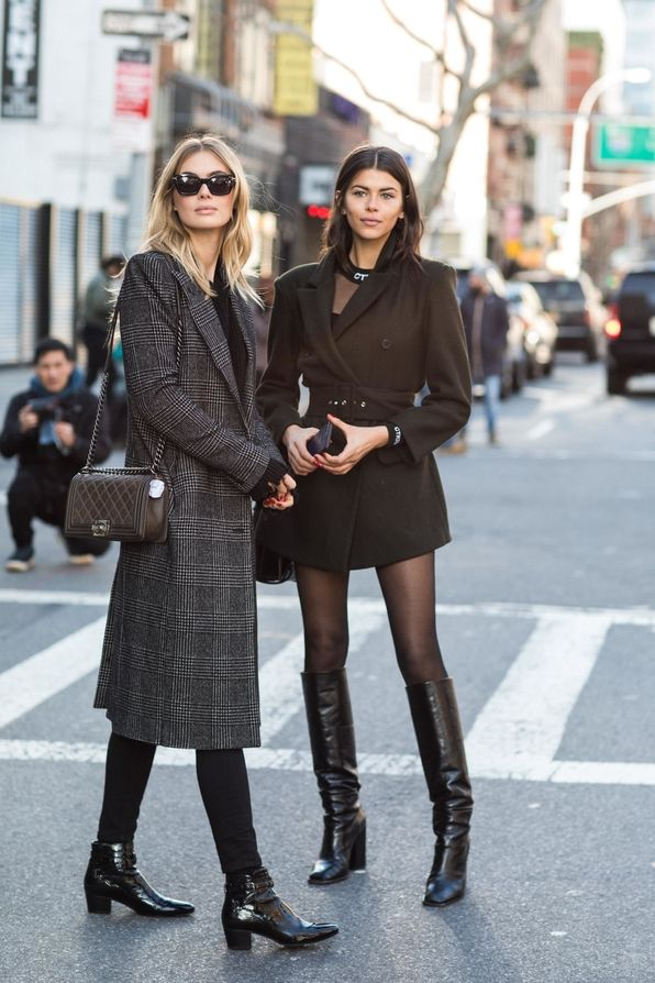 Street Style From New York Fashion Week Fall Winter 2018 2019 Coat