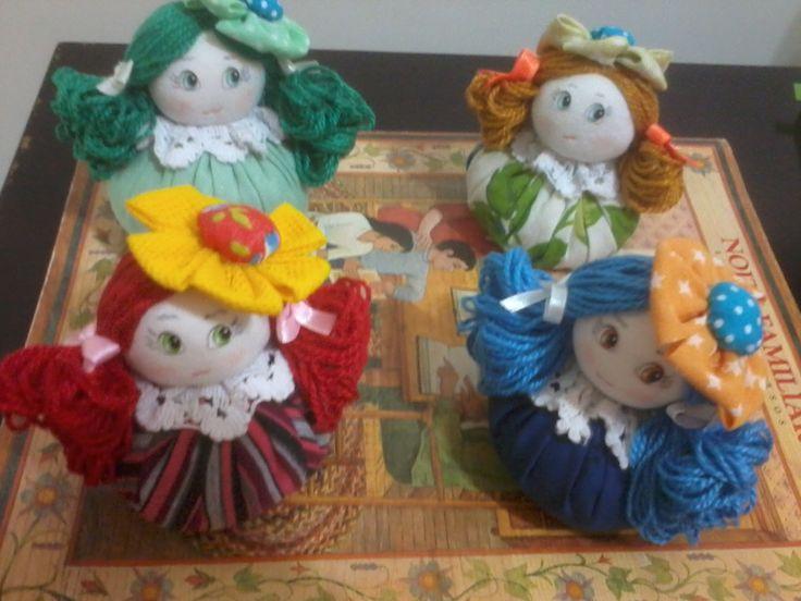 bonecas  sachês perfumadas de fuxico