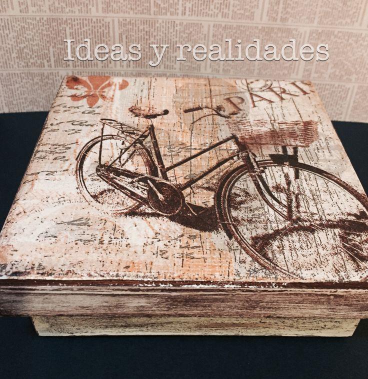 Caja para regalo vintage, decoupage