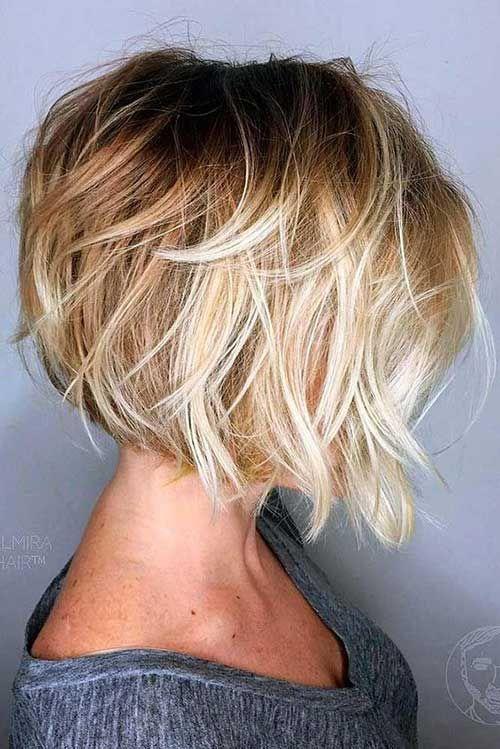 18.Layered Bob Hairstyle