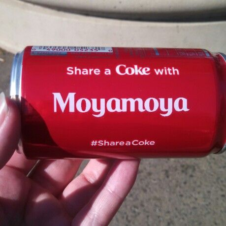 Moyamoya is a rare brain disease that most doctors don't know about! I want to raise awareness!!  Made this coke can at the California State Fair #shareacoke #raiseawareness #moyamoya