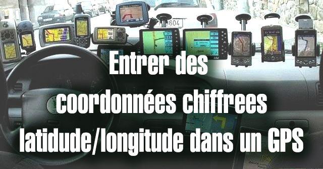 Entrer des coordonnées chiffrées dans un GPS. #Latitude #Longitude #MarcheNordique Marly le roi