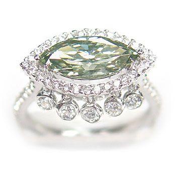 1.59ct Fancy Green Diamond Ring. Not a fan of the tassels...everything else is beautiful.