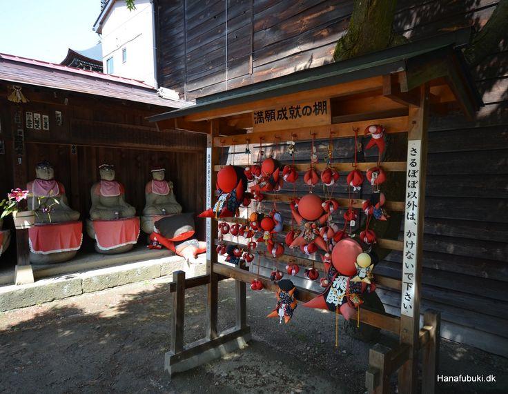 Sarubobo baby monkey amulets, Hida Kokubunji temple,  Takayama, Japan