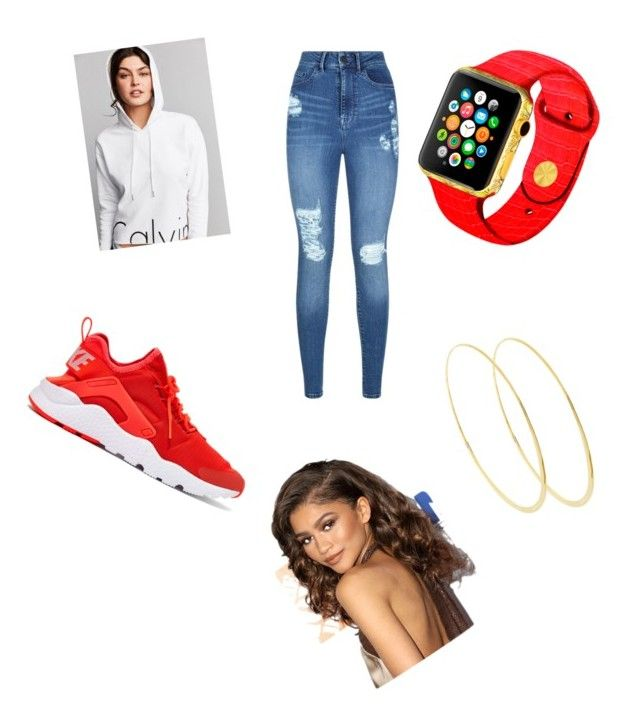 """school day"" by kenya-dope-swag on Polyvore featuring Calvin Klein, Lipsy, NIKE and Lana"