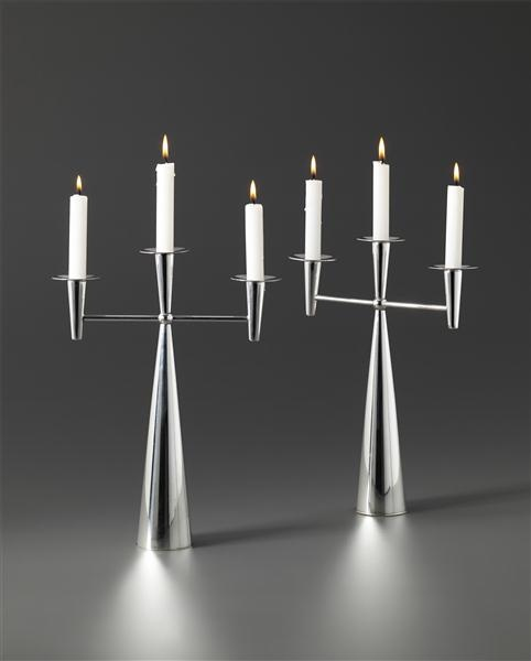 Tapio Wirkkala, #TW 202 Candlesticks, c1961.