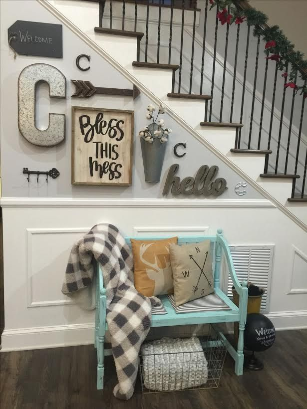 Wall Art, Home Decor, Blanket, Storage, Letter Decor, Hello Sign, Stairs,  Farmhouse, Rustic, Modern, Home Decor, Diy Decor, Entry Way, Pillows,  Bench, ...