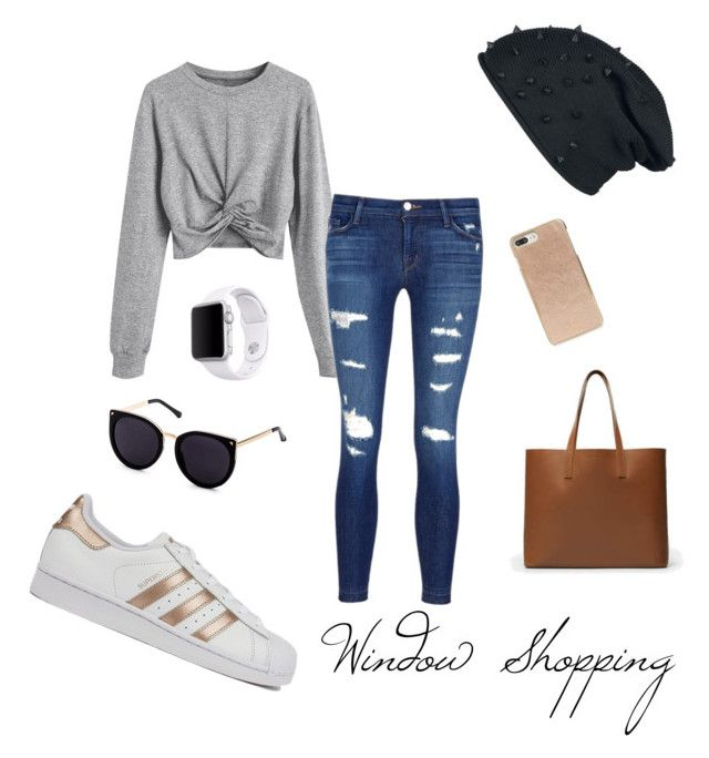 """Window Shopping"" by jessicaadawn on Polyvore featuring J Brand, adidas, Everlane, Kate Spade, Apple, cute, windowshopping and polyvorefashion"