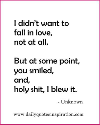 Cute Funny Love Quotes For Girlfriend I Didnt Want To Fall In Love