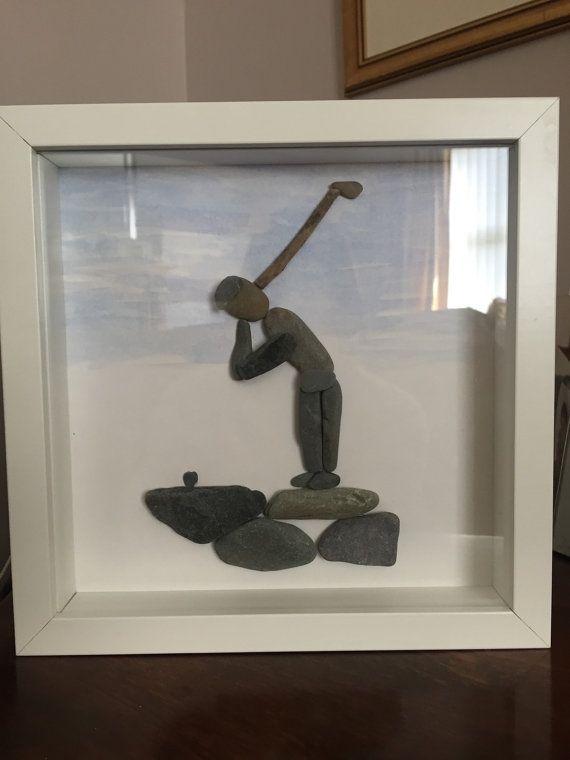 Arte de piedra de golfista