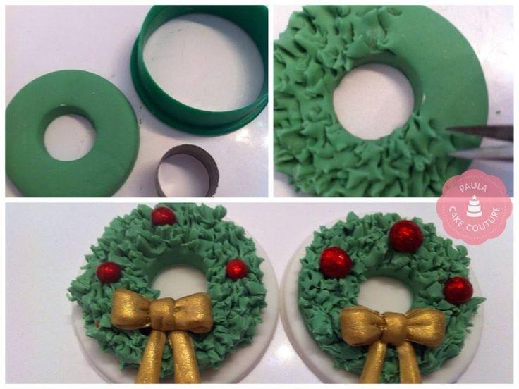 Tutorial para hacer miniatura de corona navideña en arcilla polimérica / polymer clay