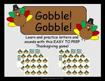 THANKSGIVING Letter and Sound game - EASY PREP!