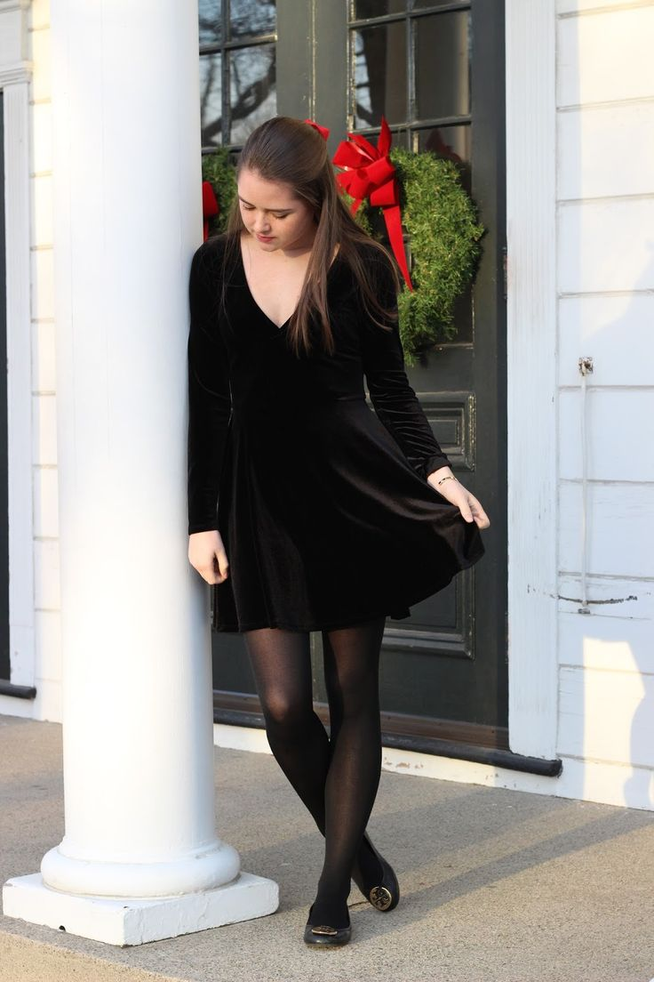 Black Velvet Dress | Dresses, Tights and Outfits | Black ...