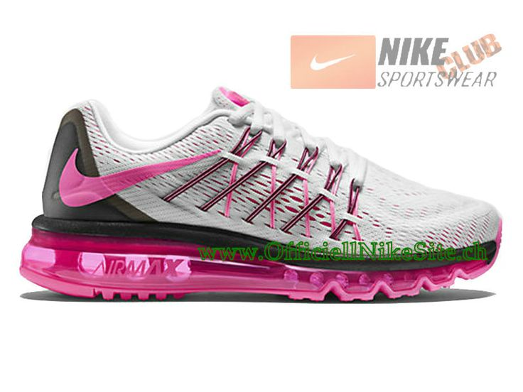 Nike Air Max 2015 GS Chaussures de Running Pour Femme Blanc/Rose 698903-106