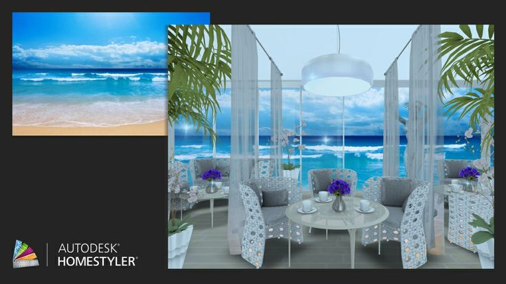 "Check out my #interiordesign ""Elegant seaside cafe"" from #Homestyler http://autode.sk/1mXyFNk"