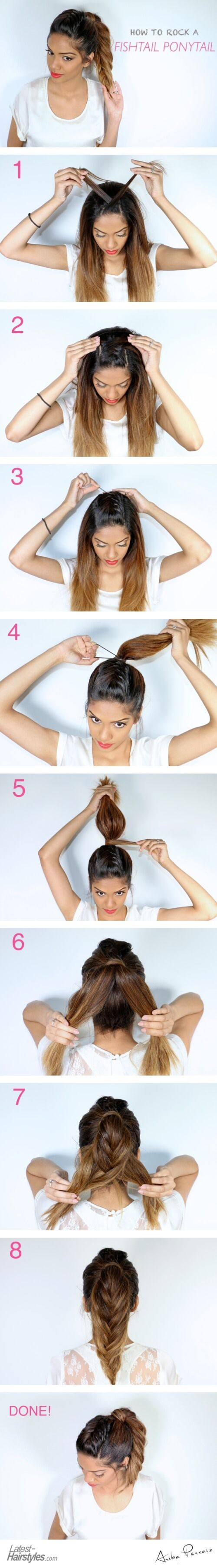 A Fishtail Ponytail Tutorial for the Fashionista in You – Hair styles