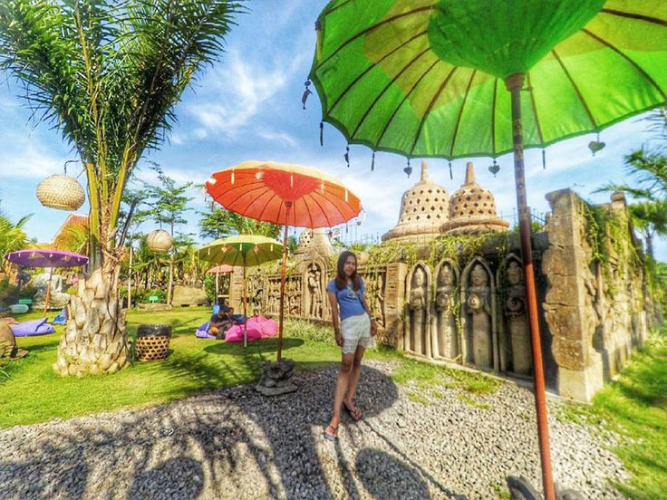 Chilling under colorful umbrellas: Big Garden Corner