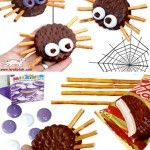 Classroom snack - spider snacks (oreo, pretzel sticks & candy eyes/skittles/m&m's